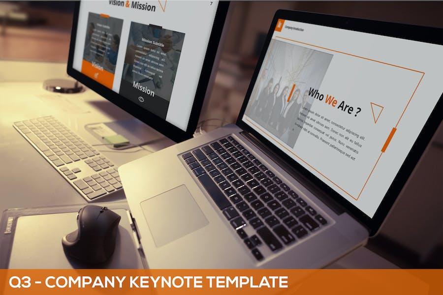 Q3 - Company Keynote Template