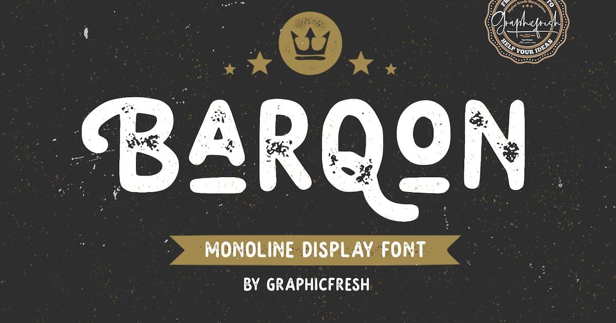 Download Barqon | Display Monoline Font by sameehmedia