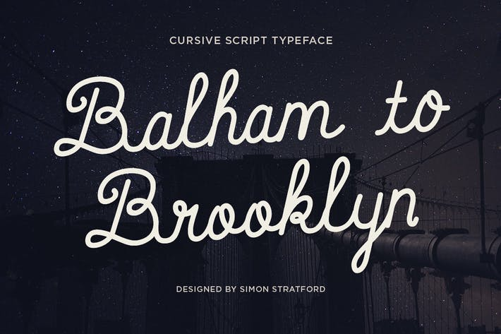 Thumbnail for Balham to Brooklyn font