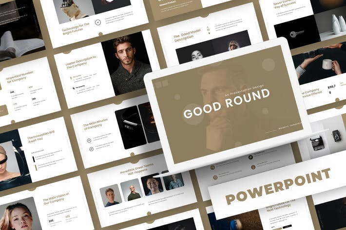 Cover Image For Good Round- Powerpoint Template