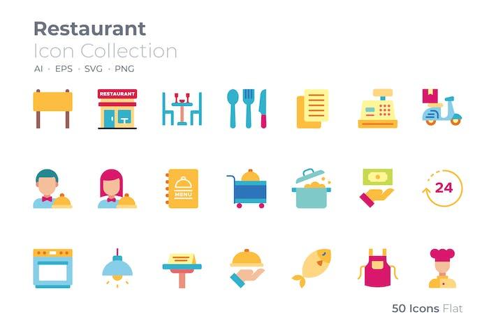 Restaurant Color Icon