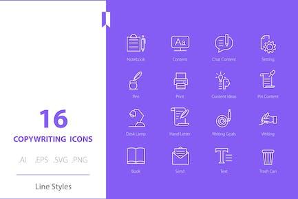 Copywriting-Symbol Linienstile festlegen