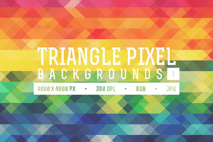 Triangle Pixel Backgrounds Pack 1