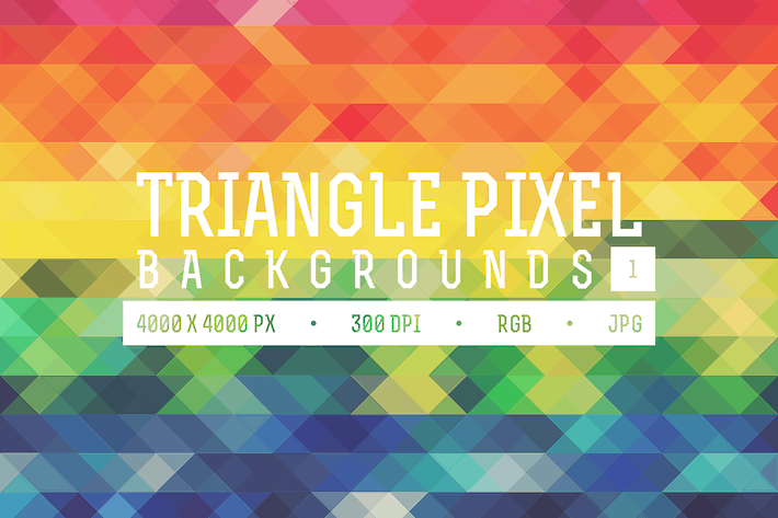 Thumbnail for Triangle Pixel Backgrounds Pack 1