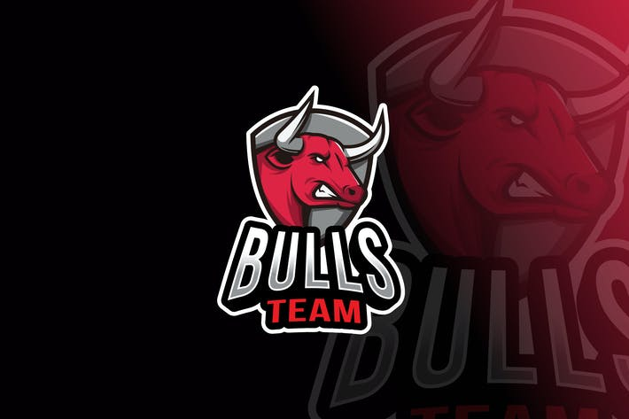 Thumbnail for Bulls Team Logo Template