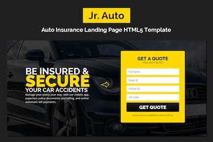 Jr. Auto Insurance Landing Page - Responsive HTML5