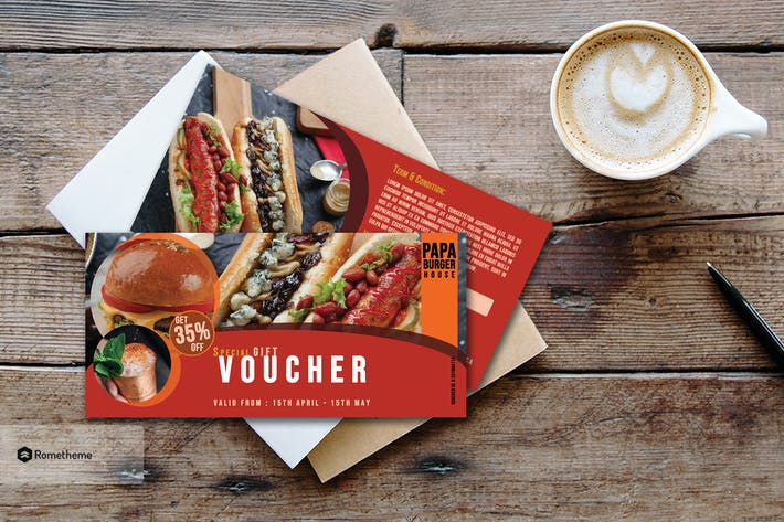 Thumbnail for Food Gift Voucher Card vol.02