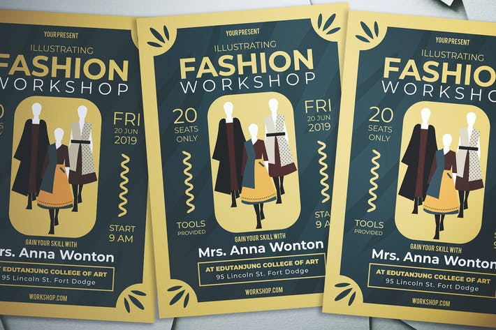 Thumbnail for Illustrating Fashion Workshop Flyer