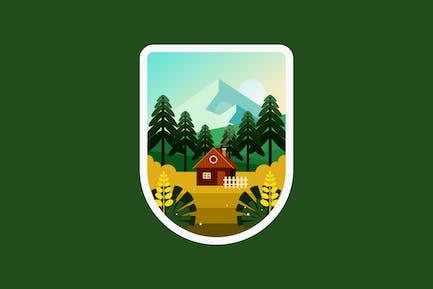 Casa en la colina en el pueblo
