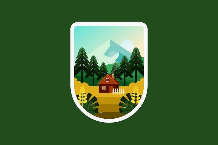 Haus auf dem Hügel im Dorf