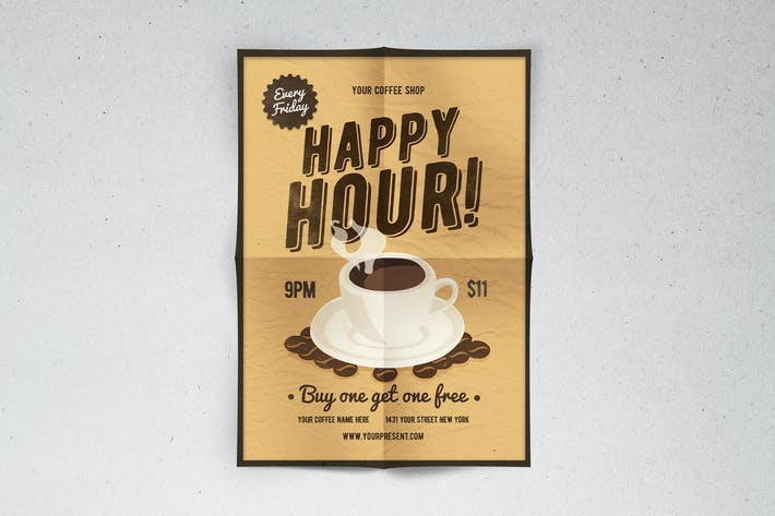 Cover Image For Happy Hour Flyer
