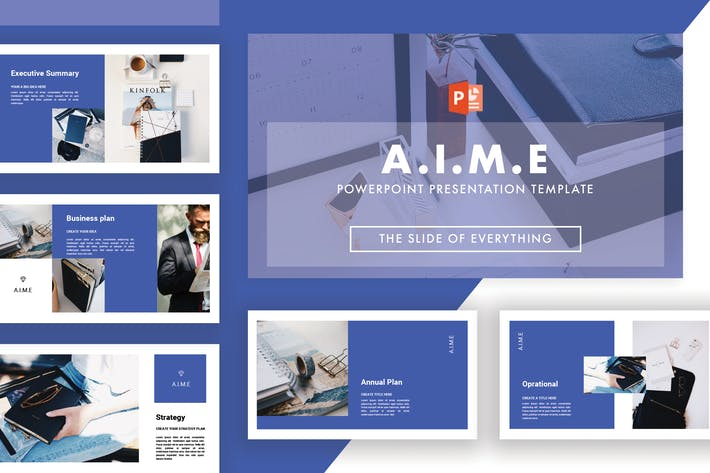 Thumbnail for Aime Powerpoint Template