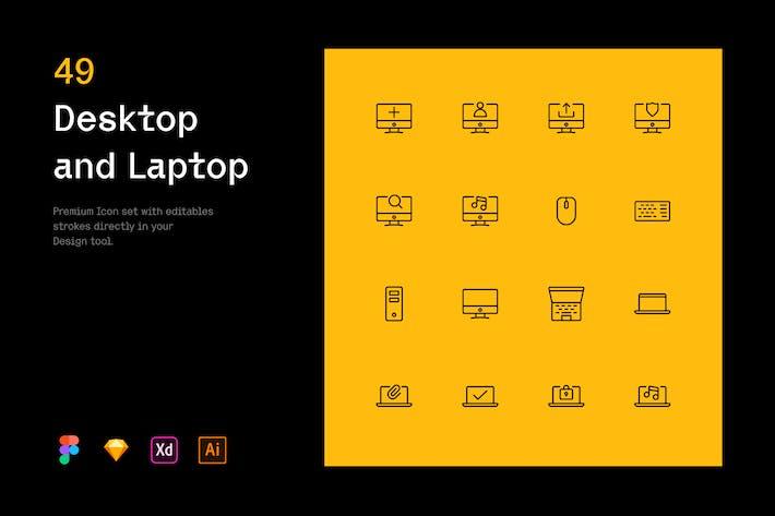 Desktop und Laptop - Iconuioo