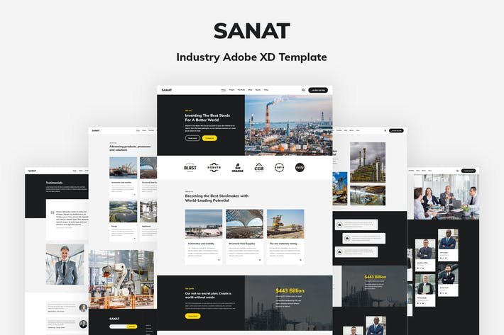 Thumbnail for Sanat - Industry Adobe XD Template