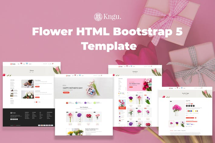 Thumbnail for Kngu - Flower HTML Bootstrap 5 Template