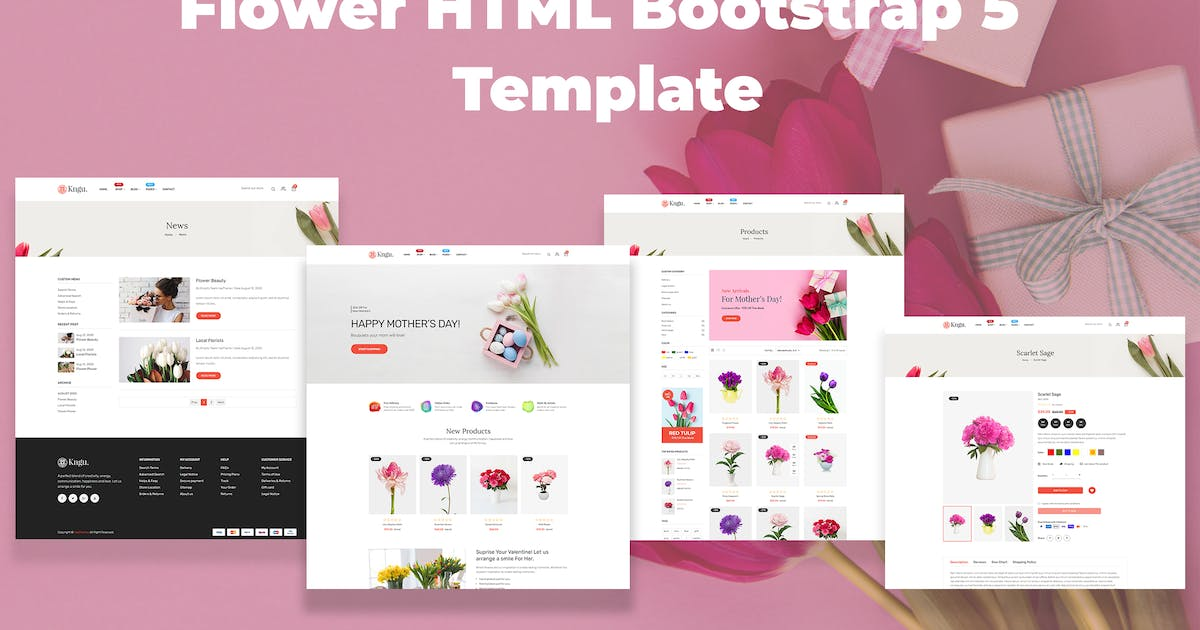 Download Kngu - Flower HTML Bootstrap 5 Template by codecarnival