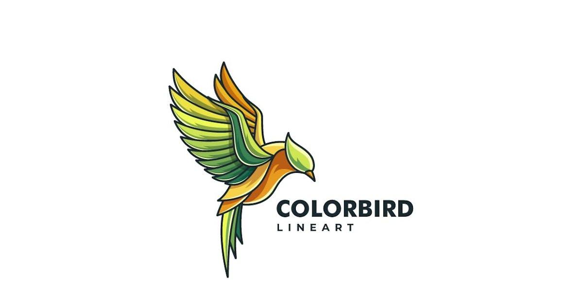 Download Bird Color Line Art Logo by ivan_artnivora