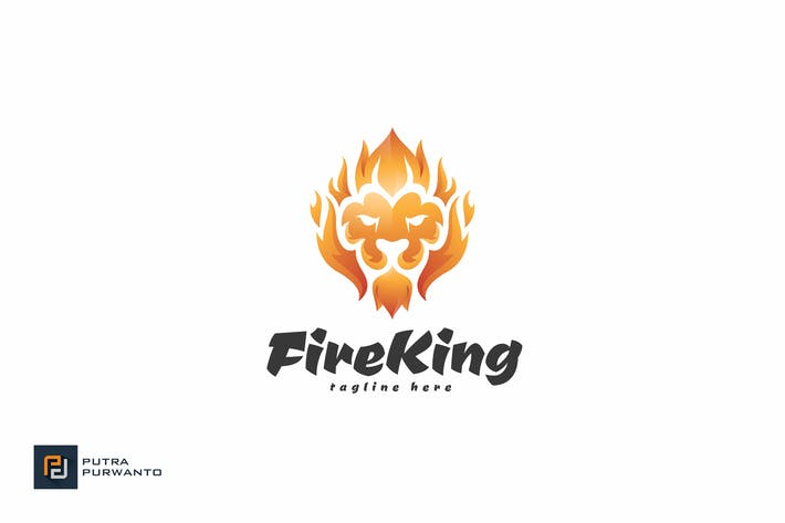 Thumbnail for Fire King - Logo Template