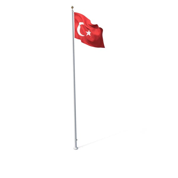Flag On Pole Turkey
