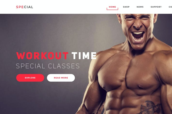 Thumbnail for Gym and Fitness Landing Page Psd Template
