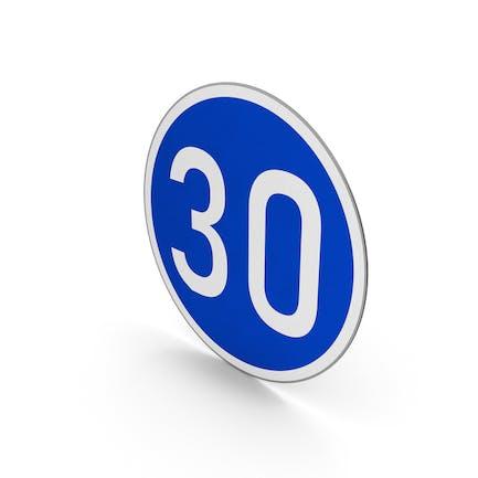 Road Sign Minimum Speed Limit 30