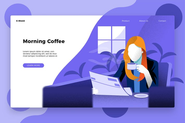 Thumbnail for Coffee and Newspaper Banner & Landing Page