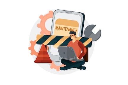 Software under maintenance Illustration