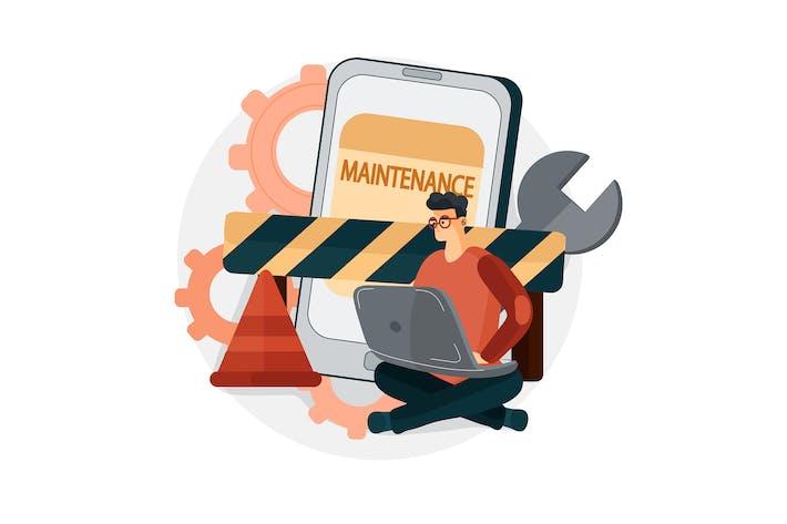 Software unter Wartung Illustration