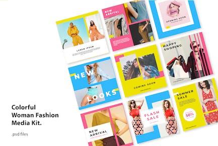 Social Media Kit Colorfull Fashion