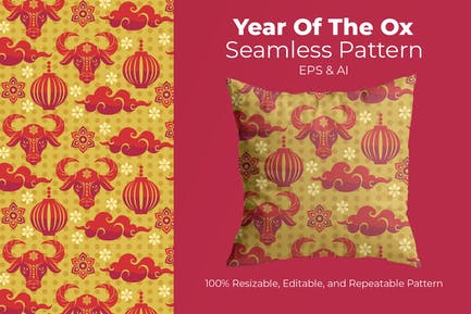 Year Of The Ox - pattern