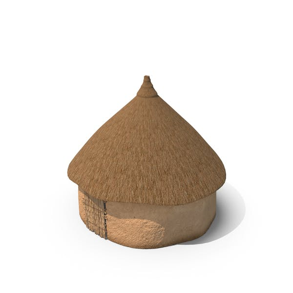 African Round Clay House