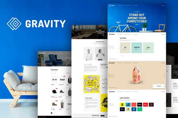 Thumbnail for Gravity -  Agency & Presentation Template