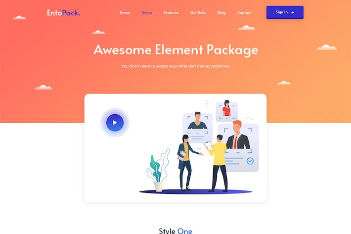 Thumbnail for EntoPack is a Creative Element PSD Template
