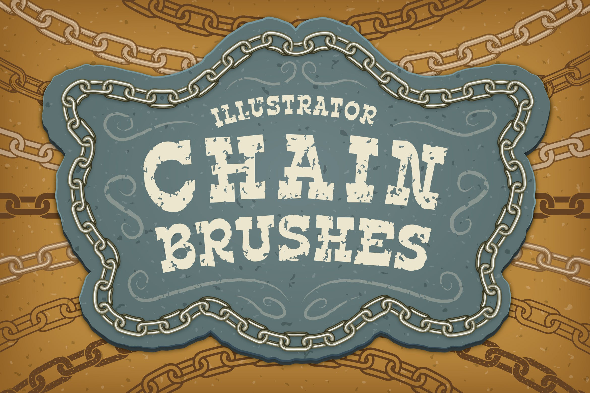 Illustrator Chain Brushes by JRChild on Envato Elements