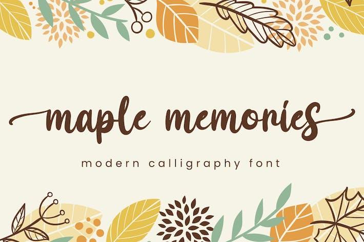 Thumbnail for Maple Memories - Script Font
