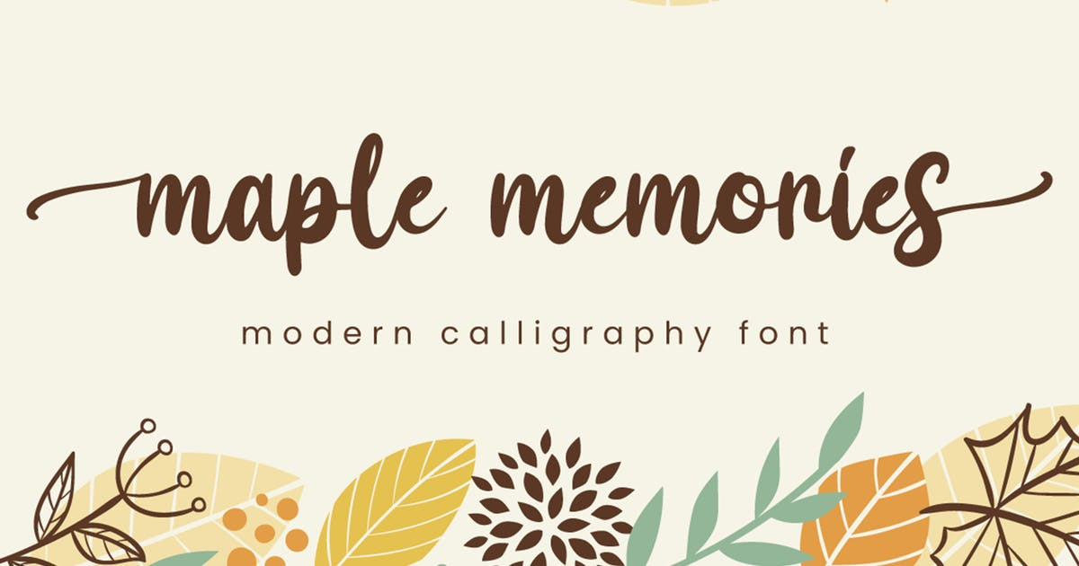 Download Maple Memories - Script Font by Attype-Studio