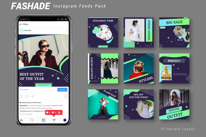 Thumbnail for Fashade - Instagram Feeds Pack