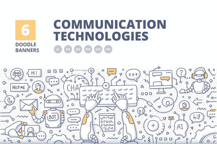 Thumbnail for 6 Kommunikationstechnologien Doodle Konzepte