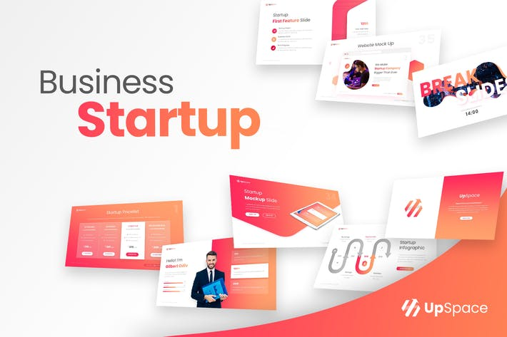 Thumbnail for UpSpace Business Startup PowerPoint Presentation T