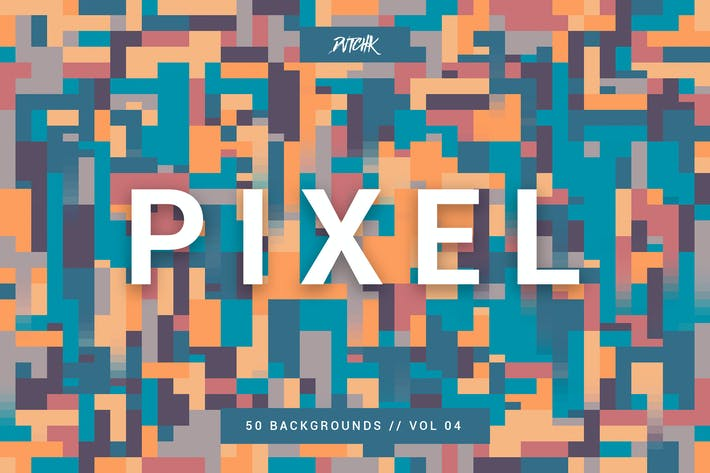 Thumbnail for Pixel | Colorful Motion Square Backgrounds | V. 04