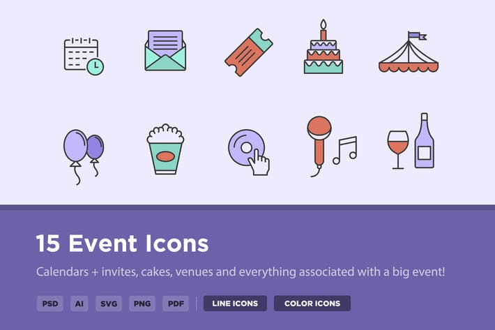 Cover Image For 15 Event Icons