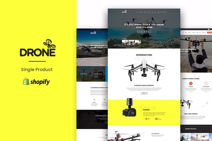 Thumbnail for Drone - Single Product Shopify Theme