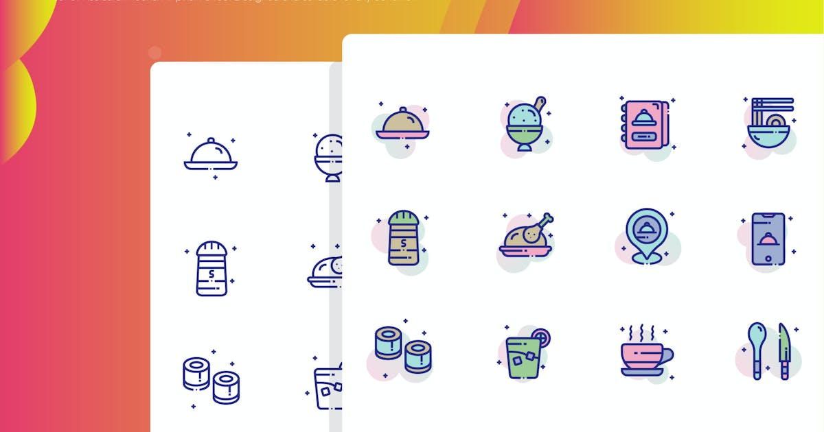 Download Restaurant Icon Pack by inspirasign