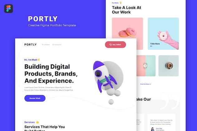 Portly — Figma Portfolio Template
