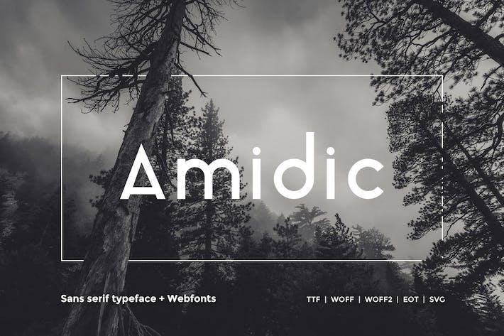 Thumbnail for Amidic - Modern San-serif Typeface + WebFont