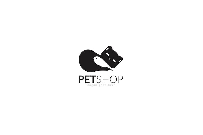 Thumbnail for Pet Shop Animal Care Cat & Bird Logo