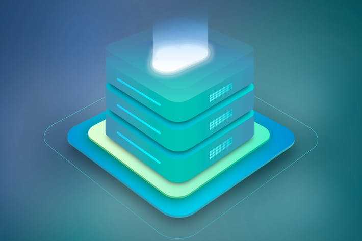 Cloud Hosting Server Isometric 2