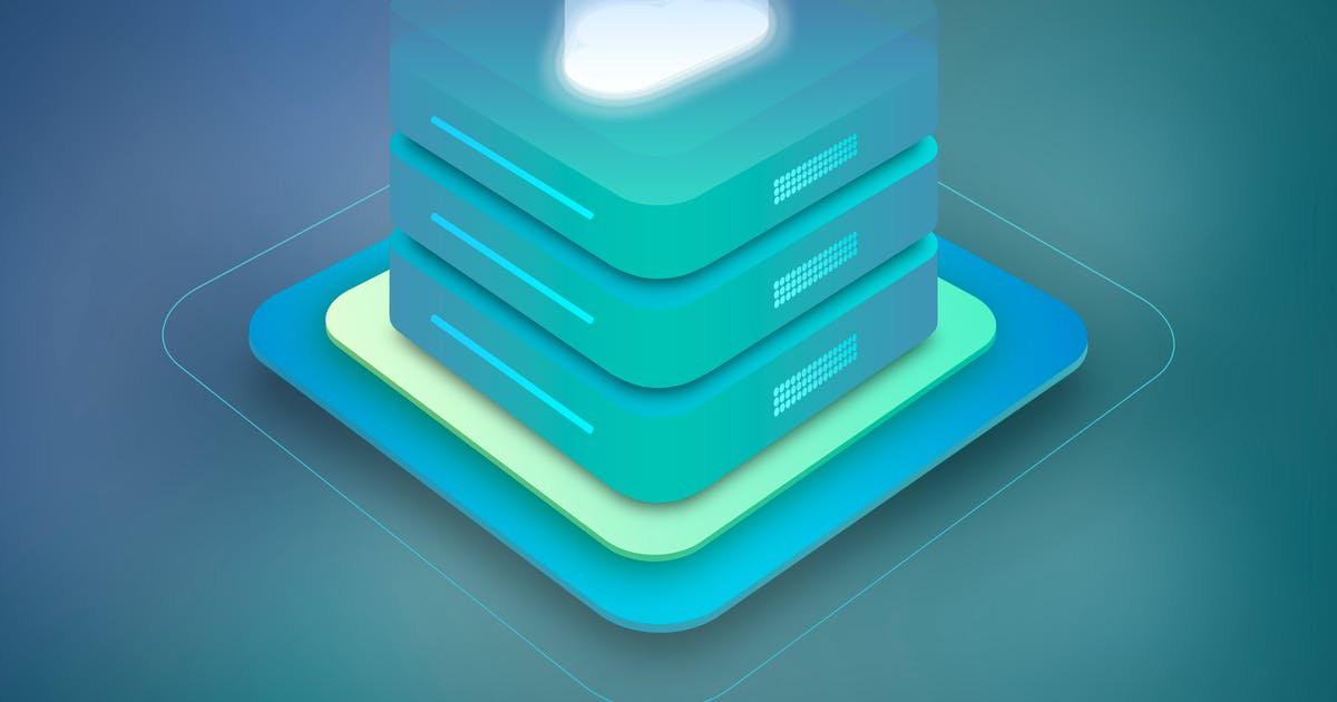 Download Cloud Hosting Server Isometric 2 by BooStock