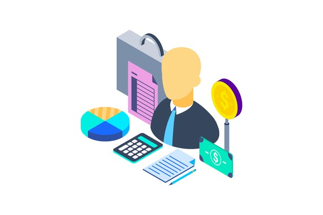 Financial Advisor Isometric Illustration