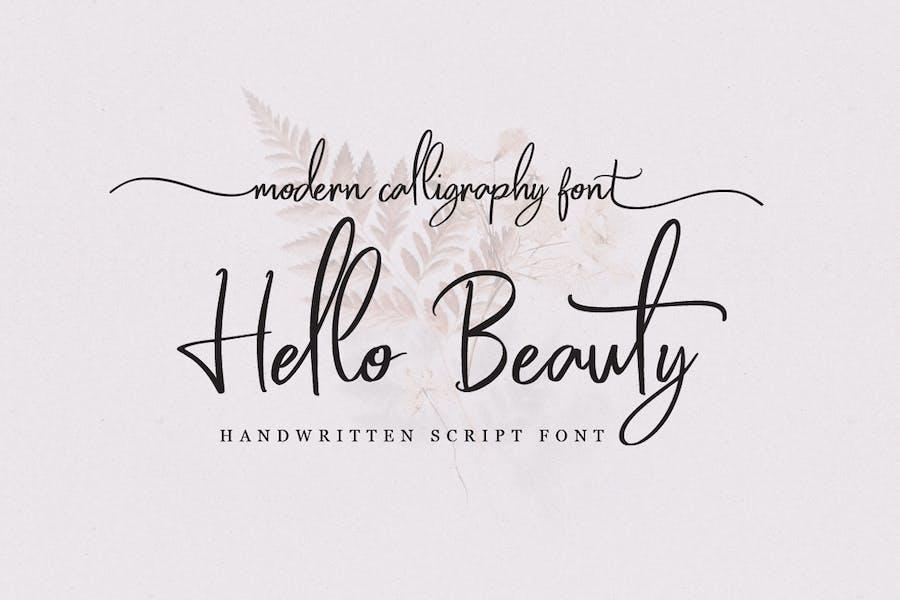 Hello Beauty - Fuente manuscrita
